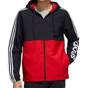 Adidas men essentials colorblocked windbreaker L